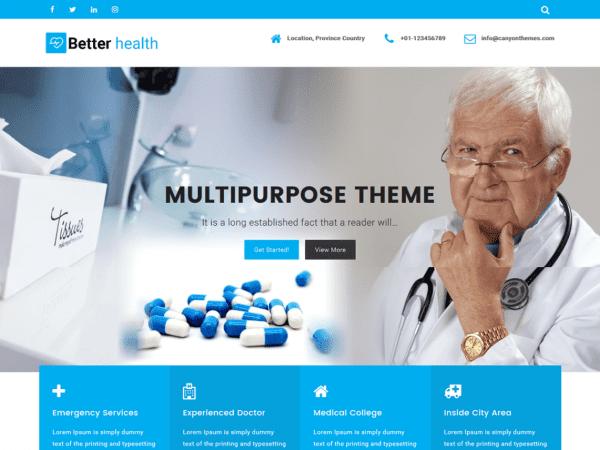 Free Better Health WordPress theme