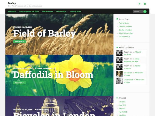 Free Bexley WordPress theme