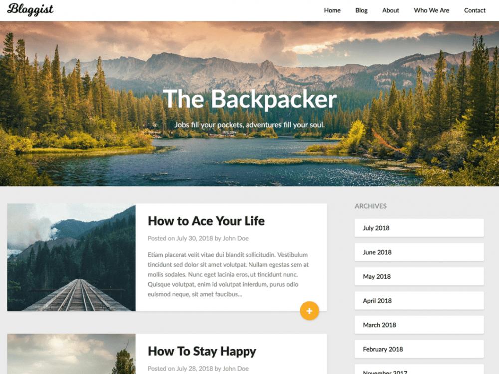 Free Bloggist WordPress theme