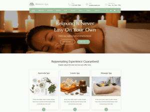Free Blossom Spa WordPress theme