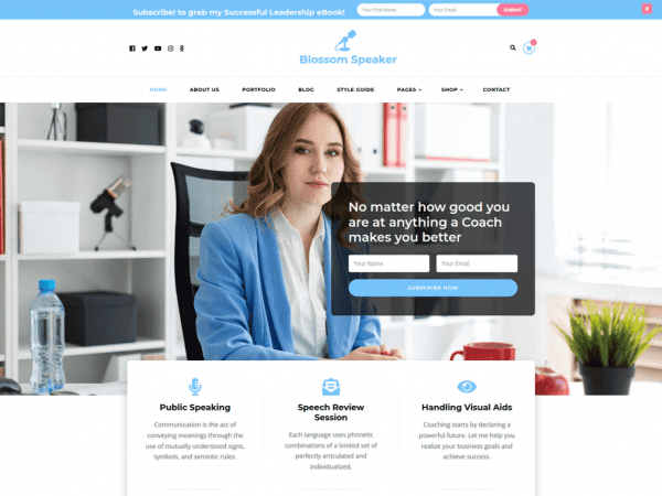Free Blossom Speaker WordPress theme