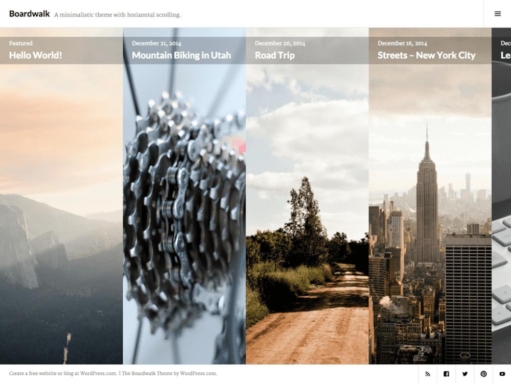 Free Boardwalk WordPress theme