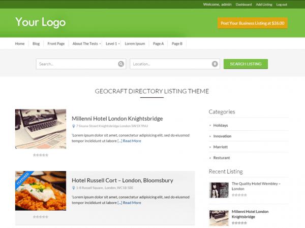 Free Business Directory WordPress theme
