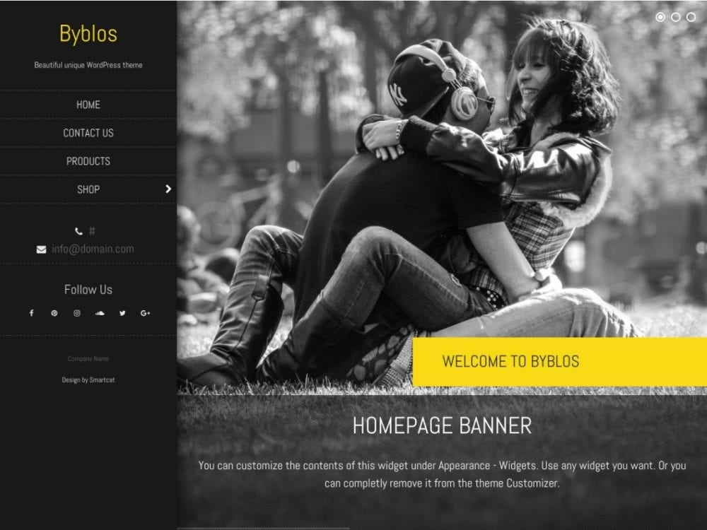 Free Byblos WordPress theme