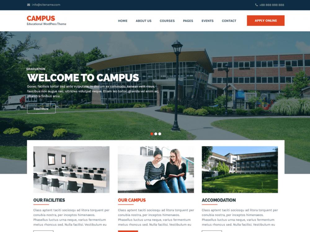 Free Campus Lite WordPress theme