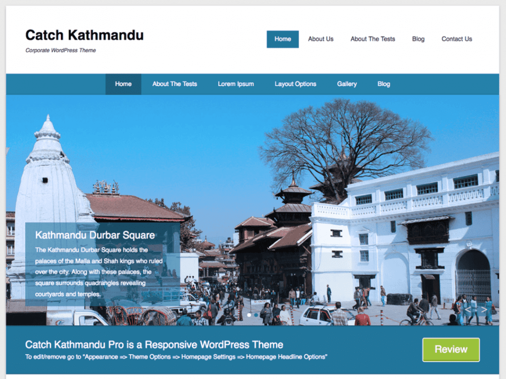 Free Catch Kathmandu WordPress theme