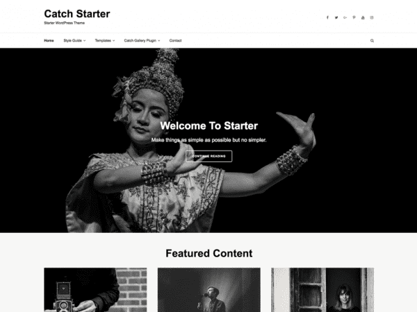 Free Catch Starter WordPress theme