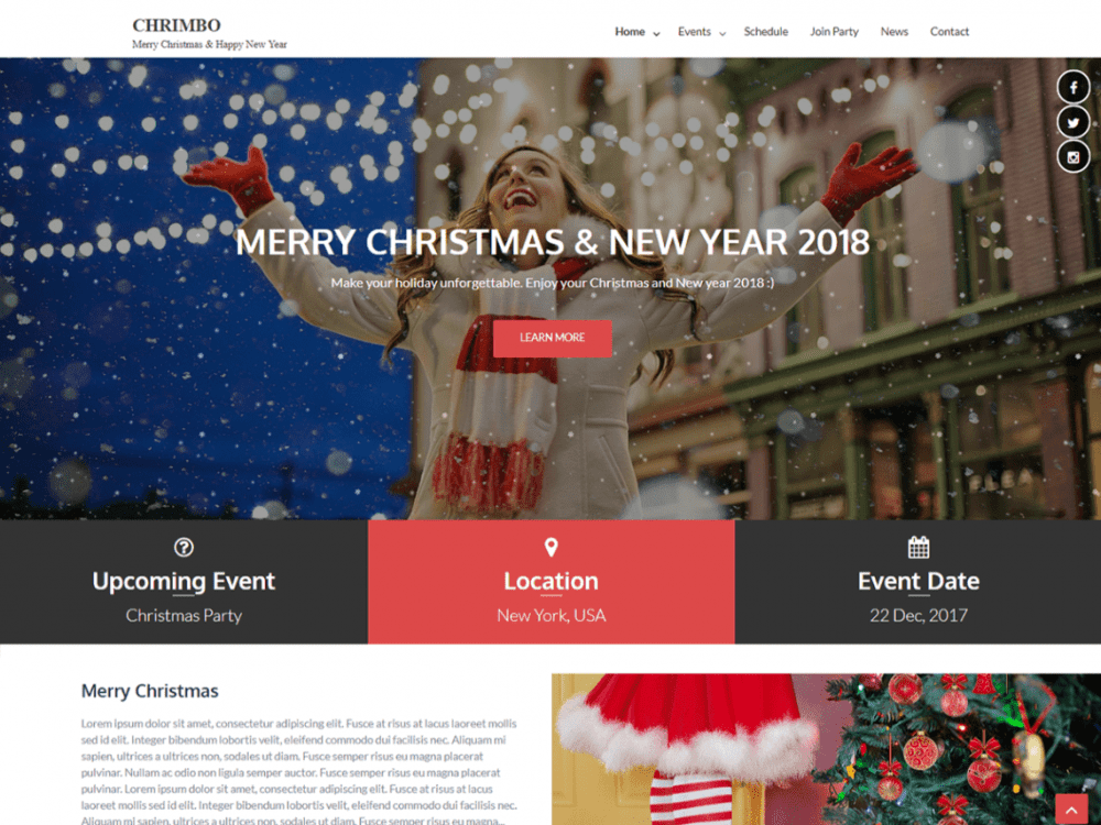 Free Chrimbo WordPress theme