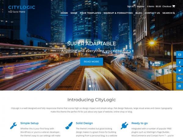 Free CityLogic WordPress theme