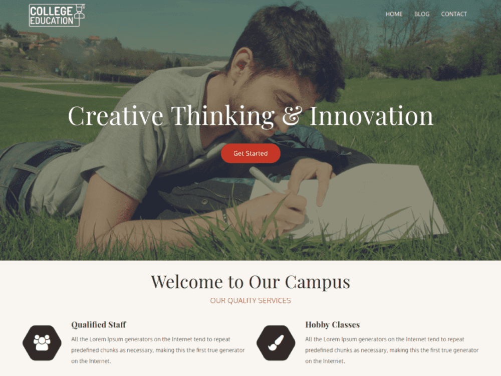 Free College Education WordPress theme