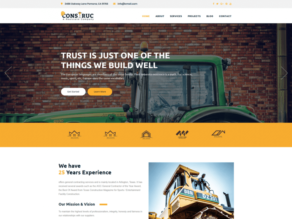 Free Construc WordPress theme