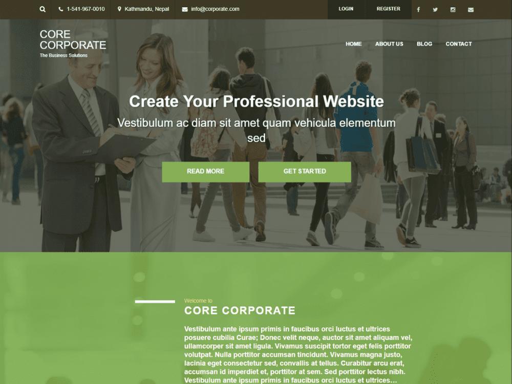 Free Core Corporate WordPress theme