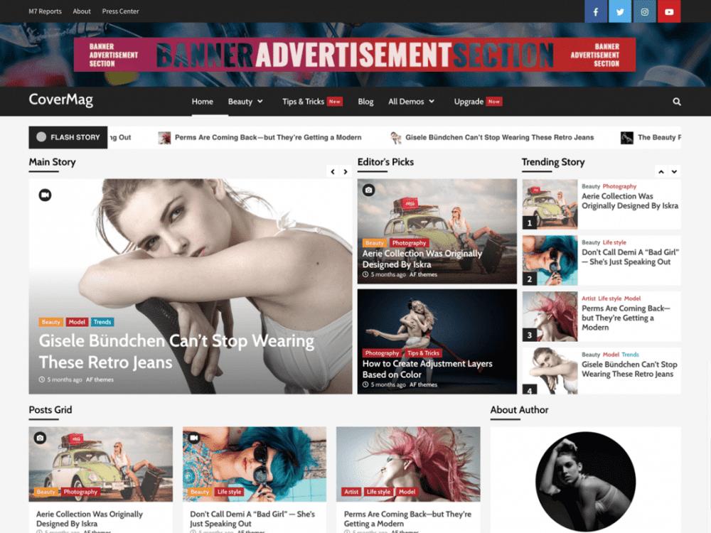 Free CoverMag WordPress theme