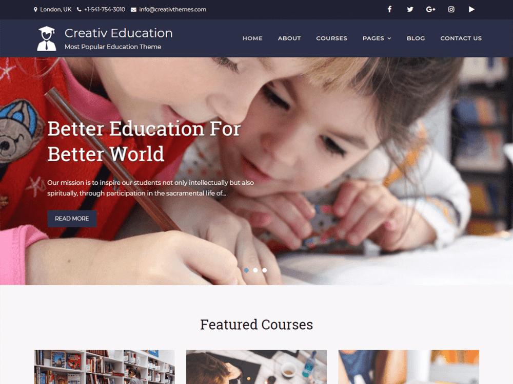 Free Creativ Education WordPress theme