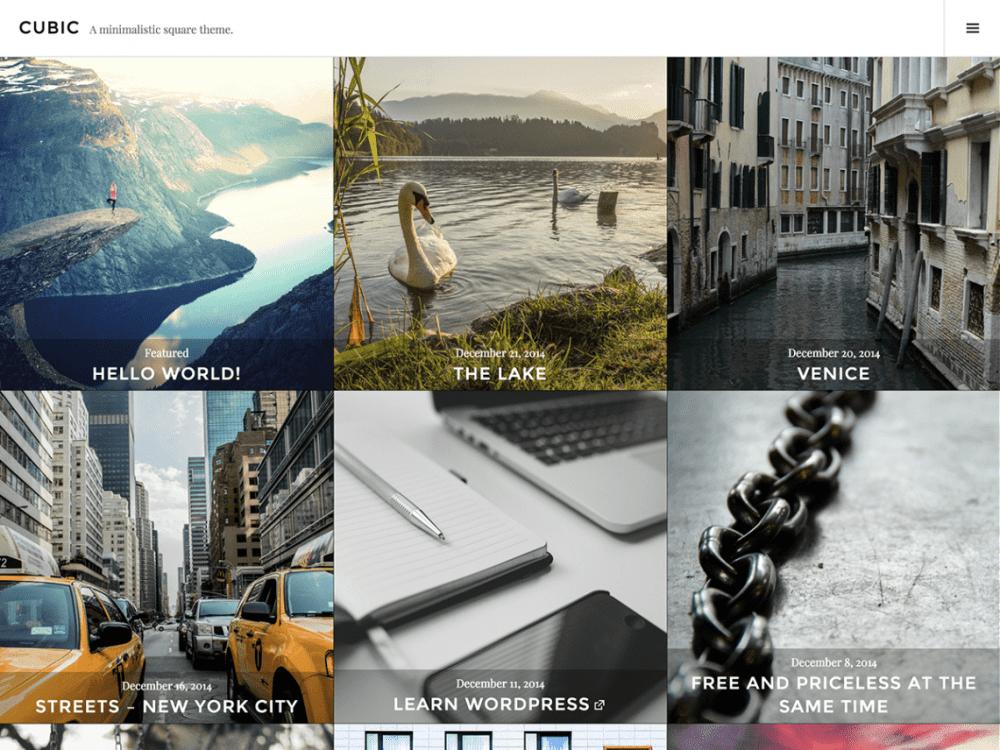 Free Cubic WordPress theme