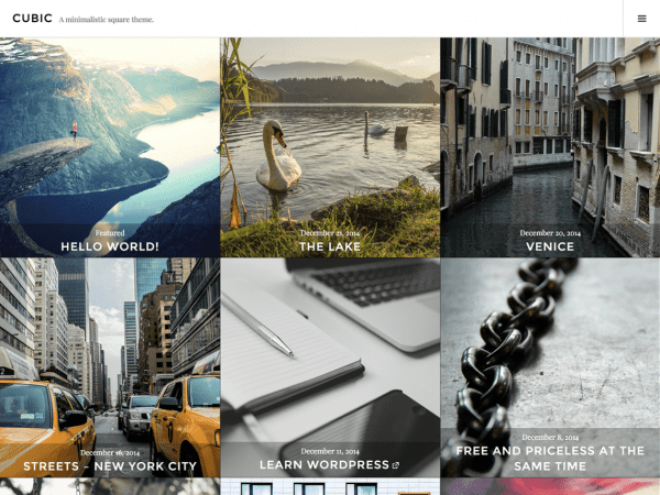 Free Cubic WordPress theme