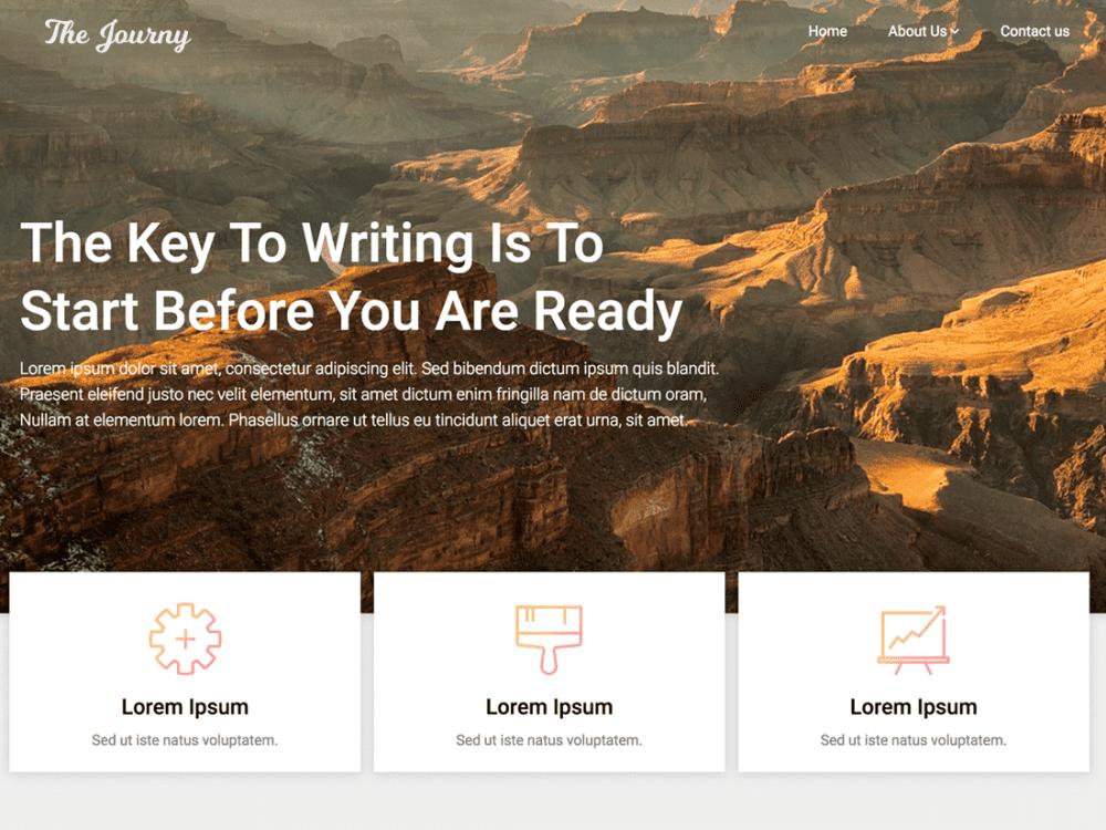 Free Customizable Blogily WordPress theme