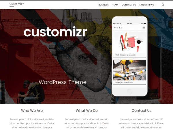 Free Customizr WordPress theme