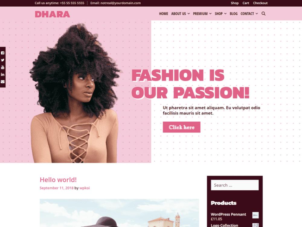 Free Dhara WordPress theme