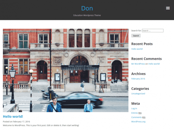Free Don WordPress theme