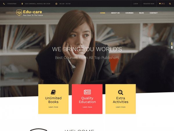 Free Edu Care WordPress theme