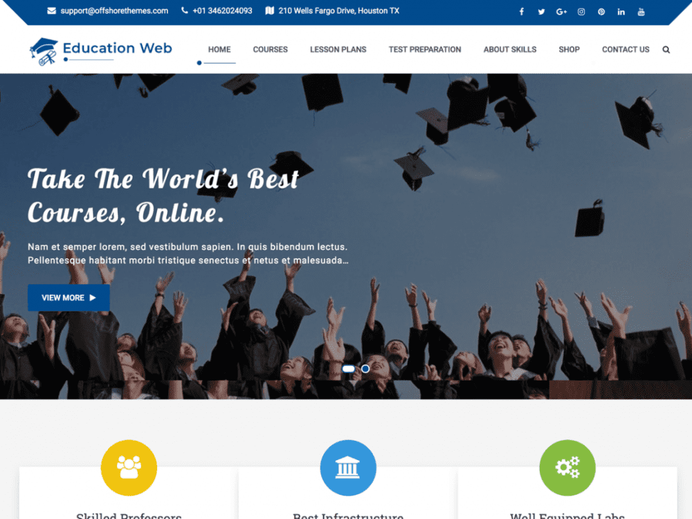 Free Education Web WordPress theme