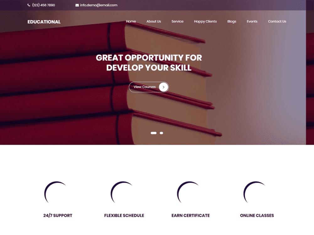 Free Educational WordPress theme
