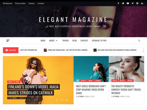 Free Elegant Magazine WordPress theme