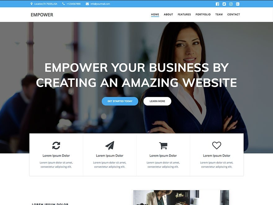 Free EmpowerWP WordPress theme