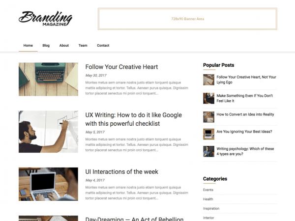 Free Feather Magazine WordPress theme
