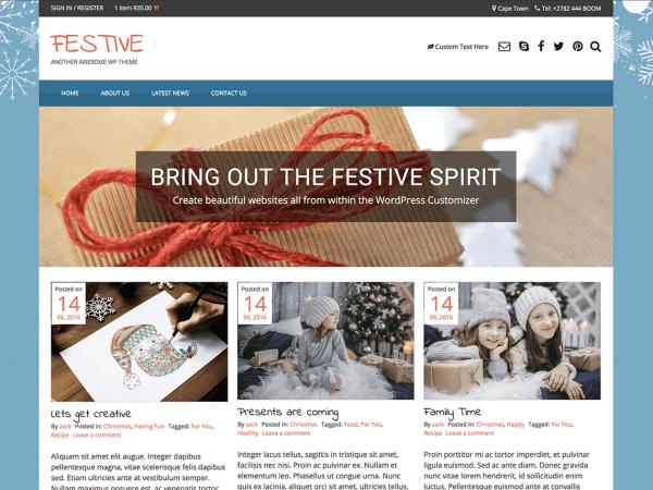 Free Festive WordPress theme
