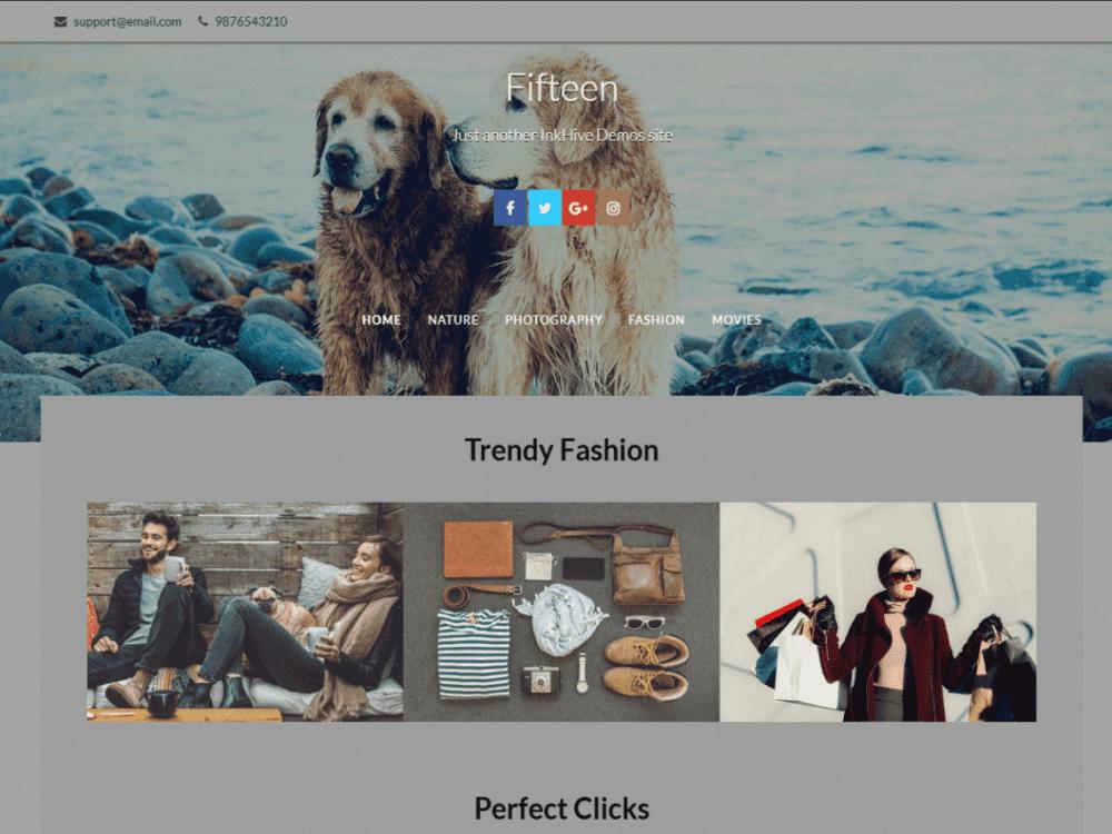 Free Fifteen WordPress theme