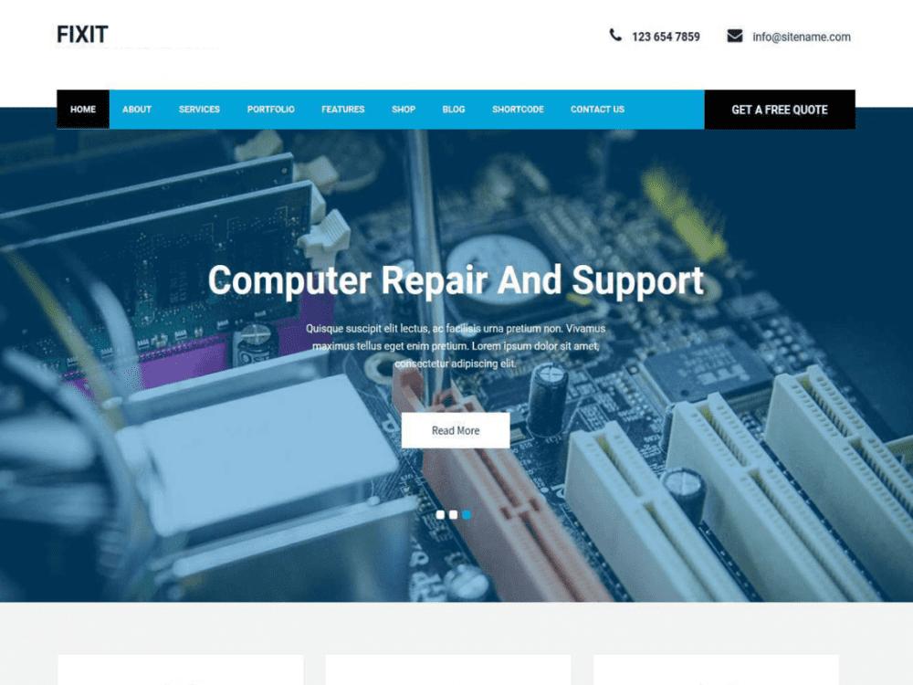 Free Fixit Lite WordPress theme
