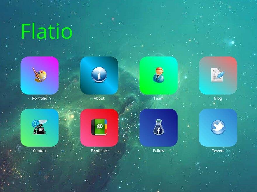 Free Flatio WordPress theme