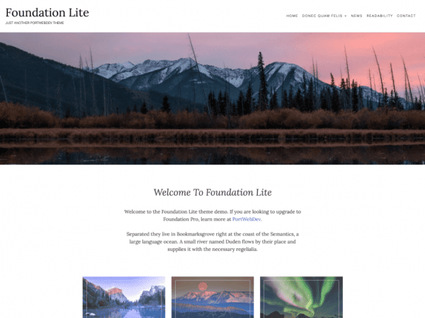 Free Foundation Lite WordPress theme