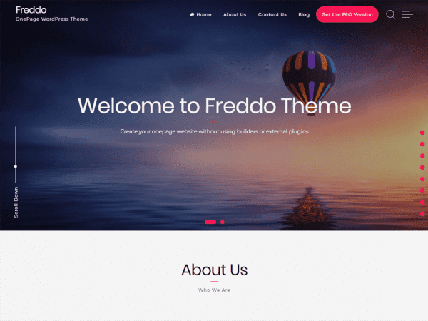 Free Freddo WordPress theme
