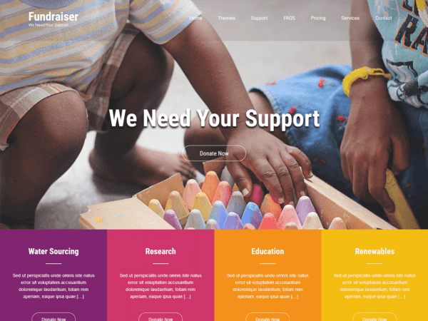 Free Fundraiser Lite WordPress theme