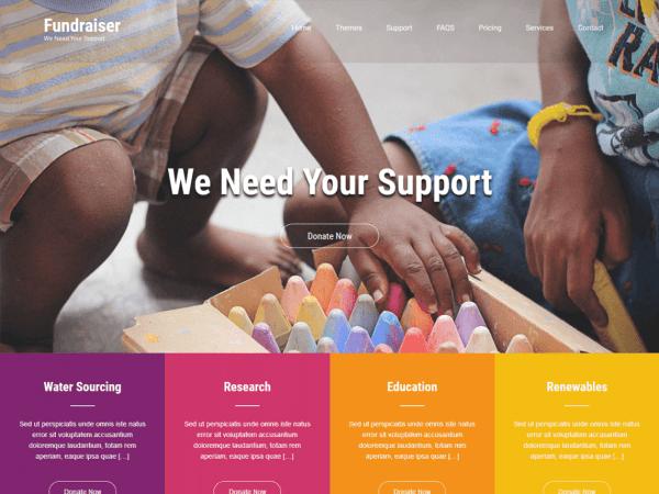 Free Fundraiser Lite WordPress theme