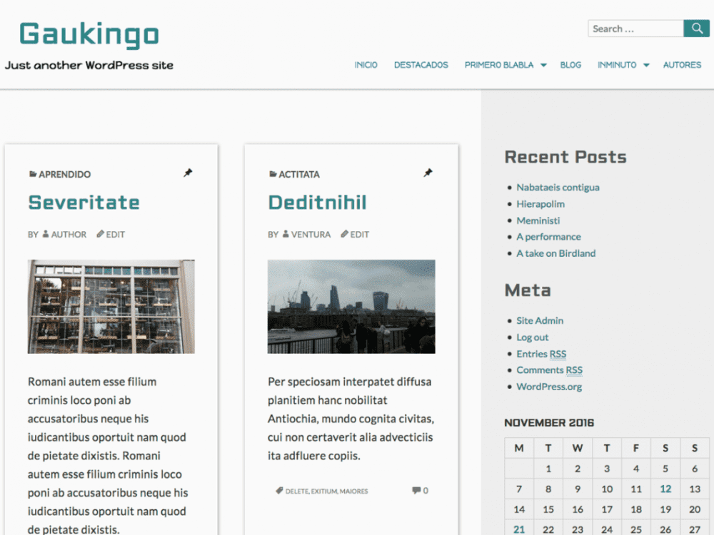 Free Gaukingo WordPress theme