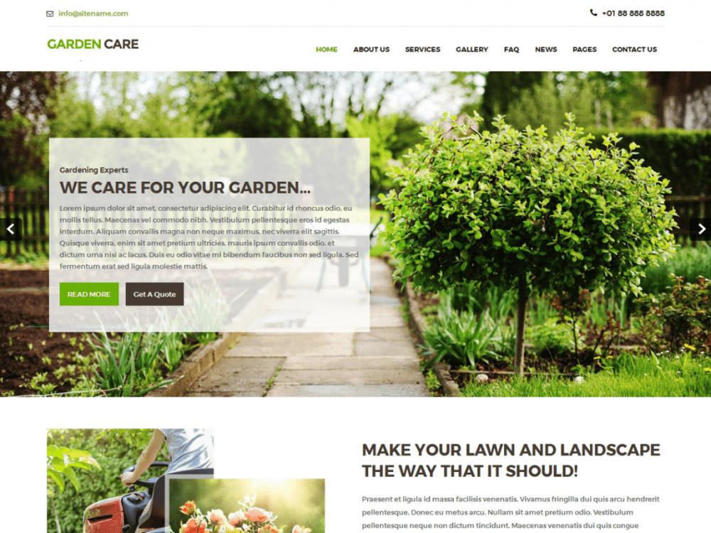Free Greenhouse WordPress theme