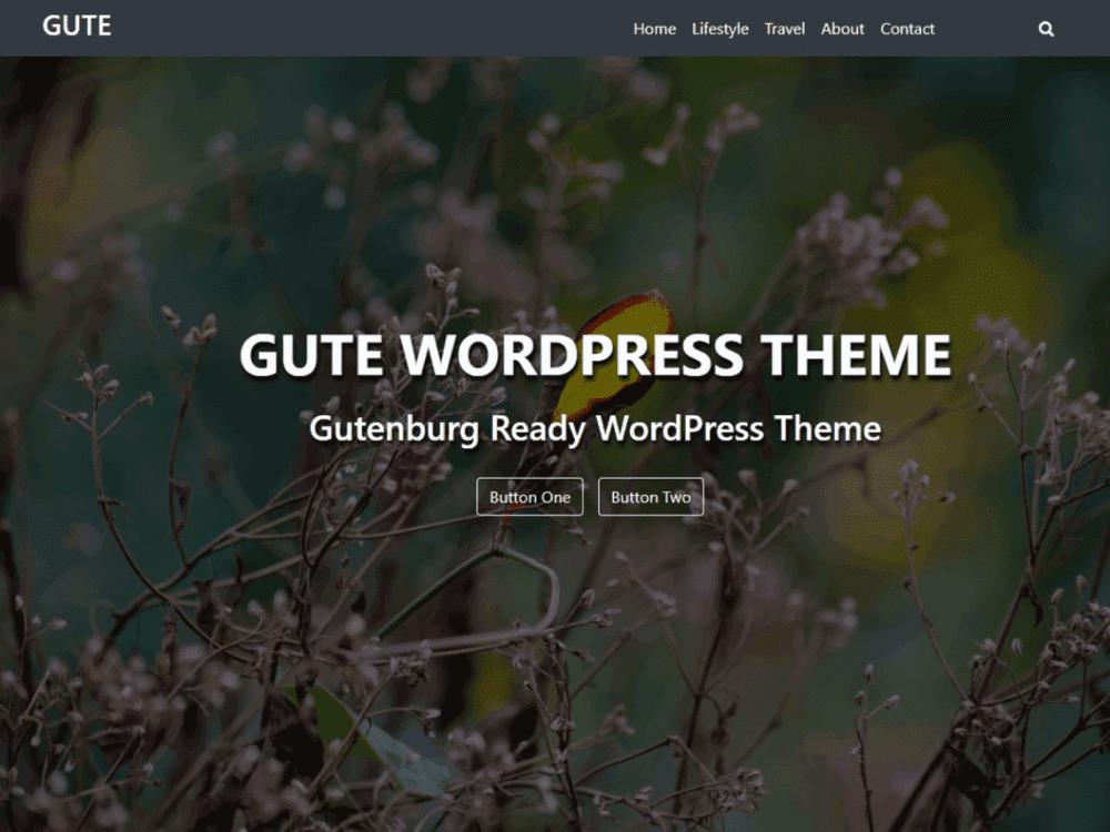 Free Gute WordPress theme