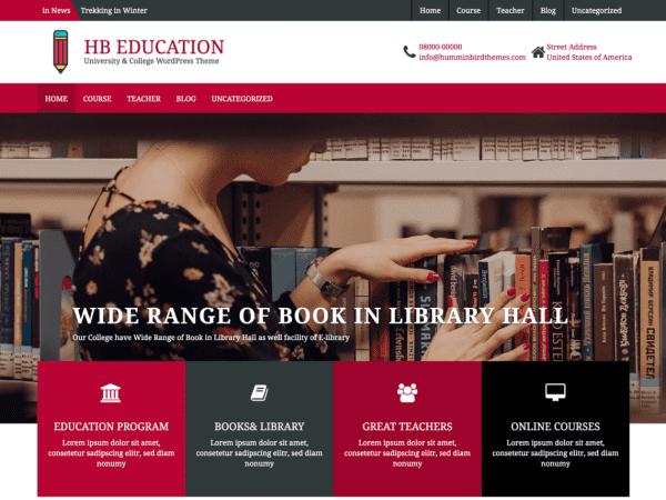 Free HB Education WordPress theme