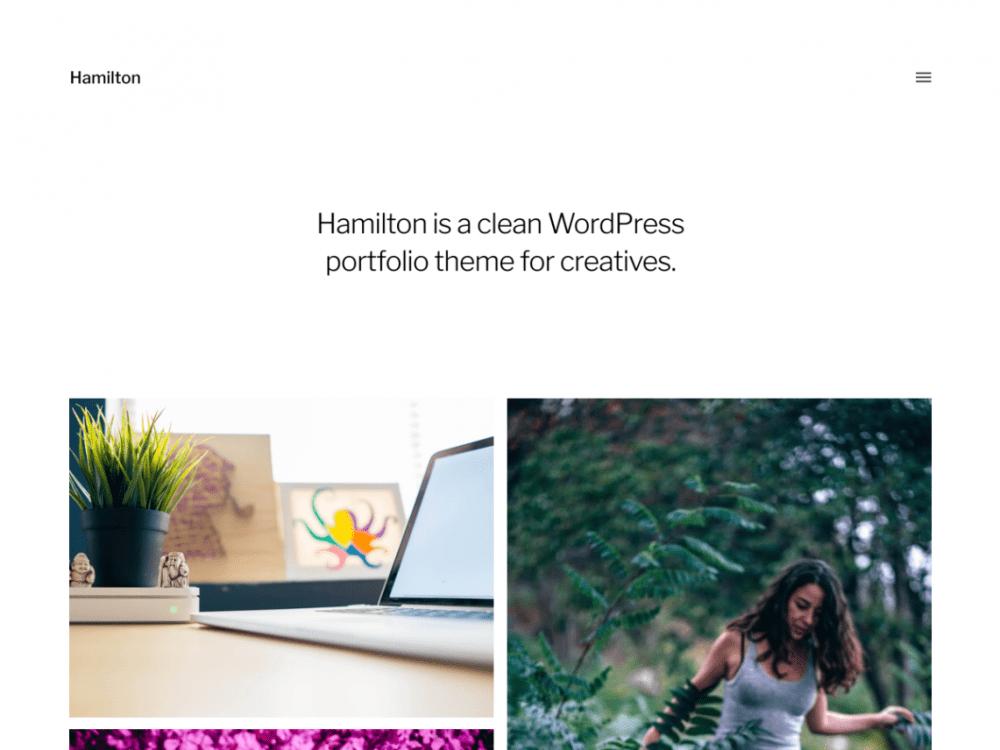 Free Hamilton WordPress theme