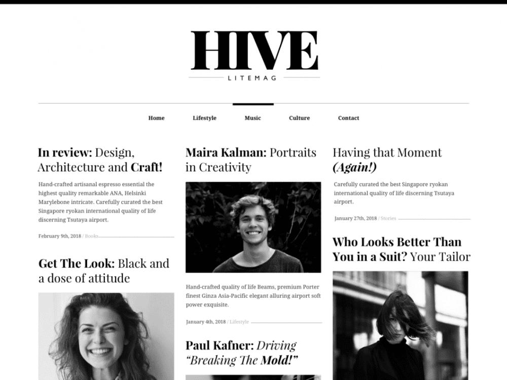 Free Hive Lite WordPress theme