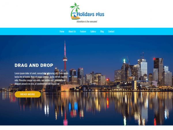Free Holidays Plus WordPress theme