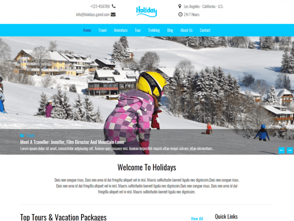 Free Holidays WordPress theme