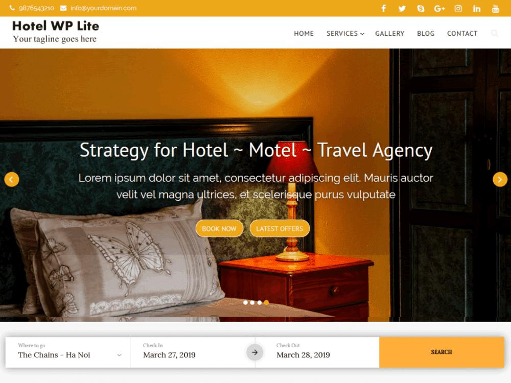 Free Hotel WP Lite WordPress theme