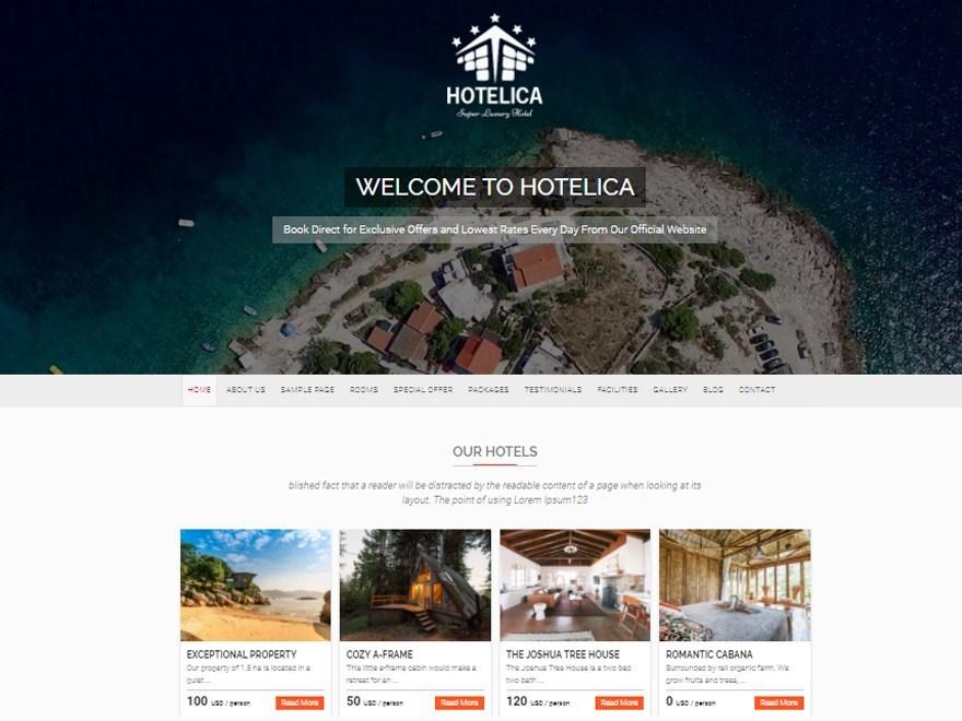 Free Hotelicae WordPress theme