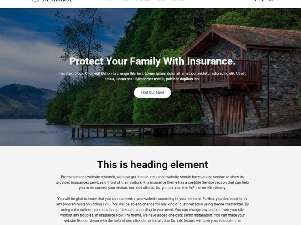 Free Insurance Now WordPress theme