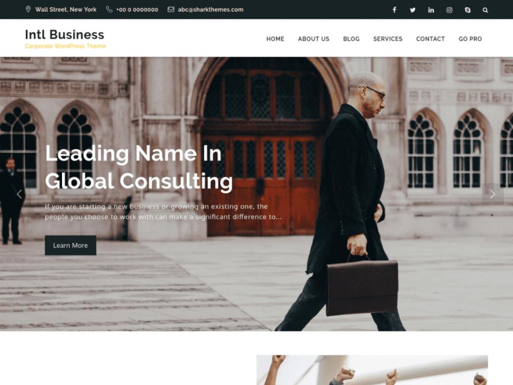 Free Intl Business WordPress theme